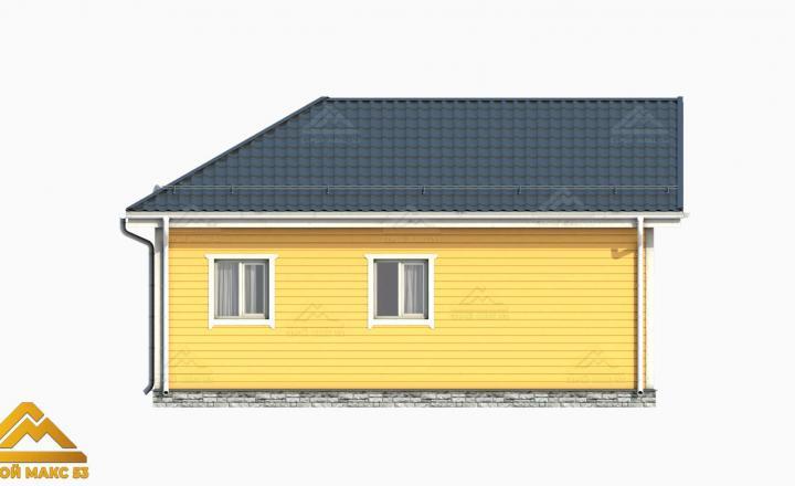 3-д проект финского дома с террасой 9х9