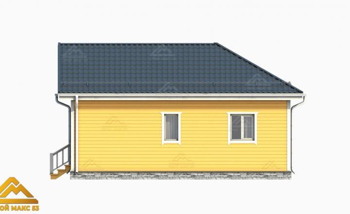 3-д рисунок фасада финского дома 9 на 9 сбоку