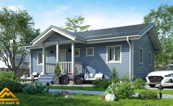 финский дом 10 на 8 с террасой под ключ