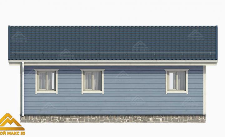 финский дом 10х8 3-д графика вид сзади