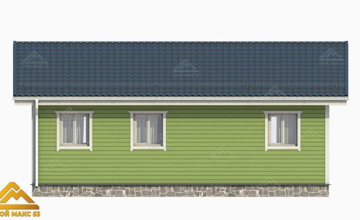 3-д рисунок фасада финского дома сзади