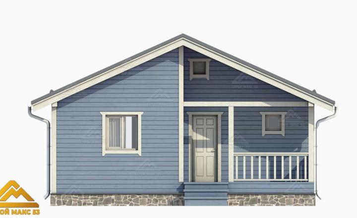 проектный рисунок фасада финского дома 8 на 8