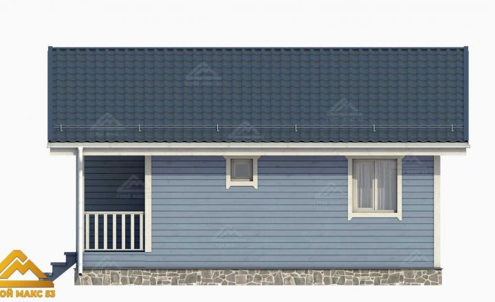 3-д визуализация финского дома 8х8 с террасой