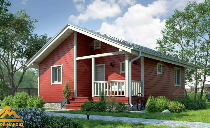 финский одноэтажный дом с сауной
