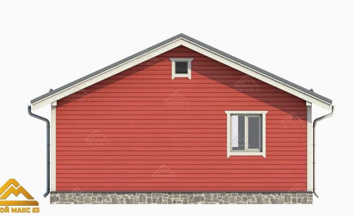 3д-рисунок фасада финского дома с сауной