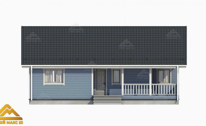 проектный рисунок фасада финского дома