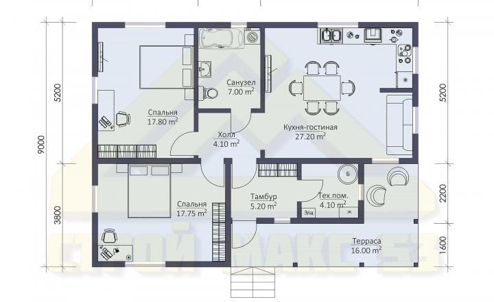 планировка финского дома 9 на 12