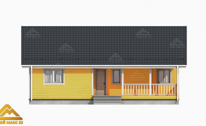 финский дом желтый фасад