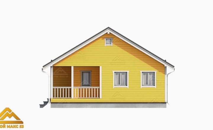 3-д модель финского дома 9х12 сбоку