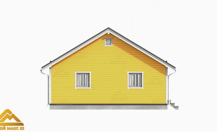проект фасада финского дома сбоку
