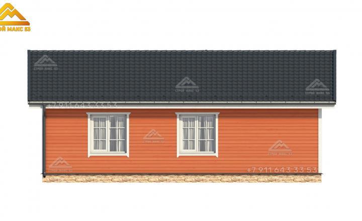 3-д эскиз бокового фасада каркасного дома под ключ в Санкт-Петербурге