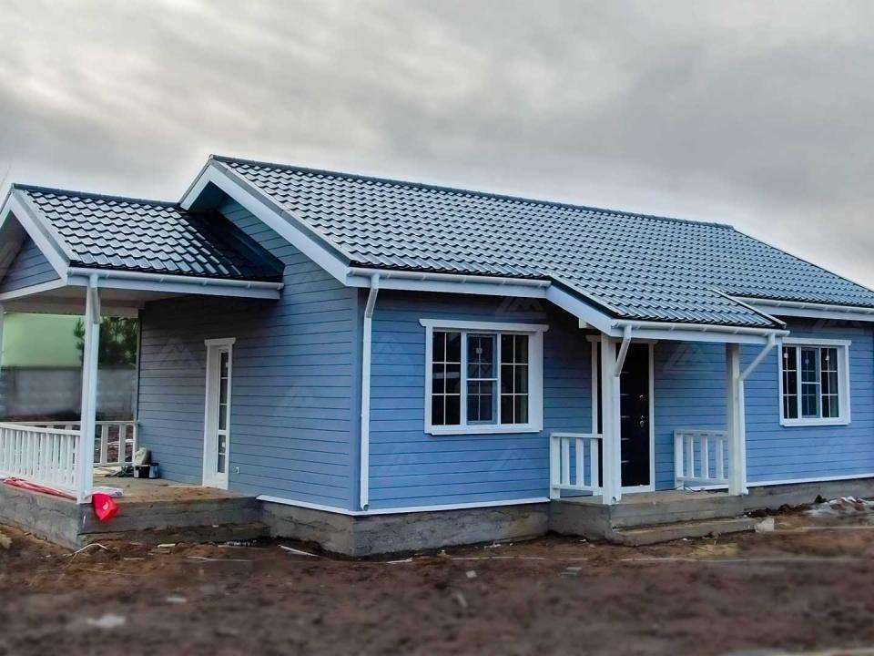 каркасный финский одноэтажный дом под ключ