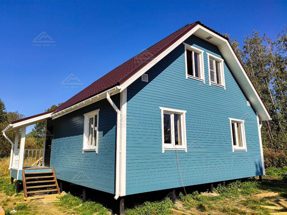 финский каркасный дом 8x8 в СПб