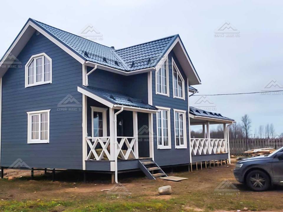 финский каркасный дом в великом новгороде