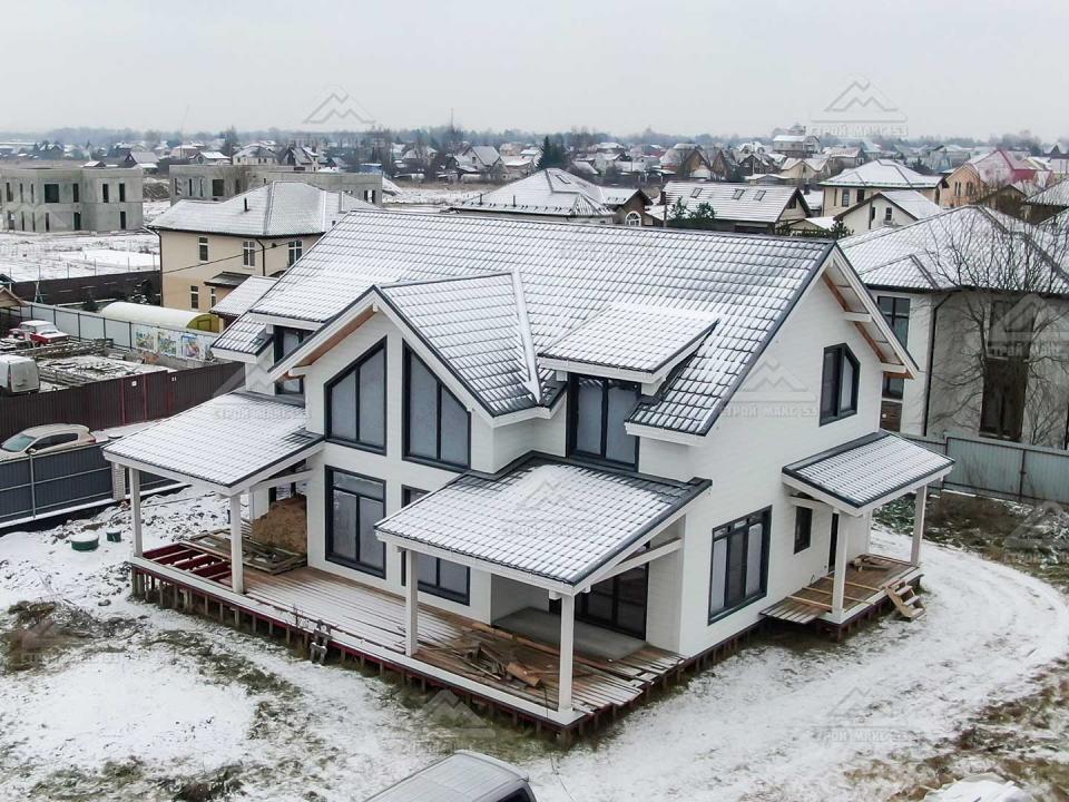 каркасный дом в санкт-петербурге по проекту петергоф