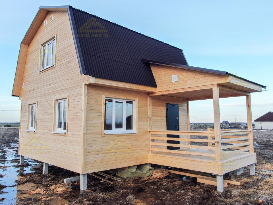 каркасный дом 6 на 6 под ключ зимний