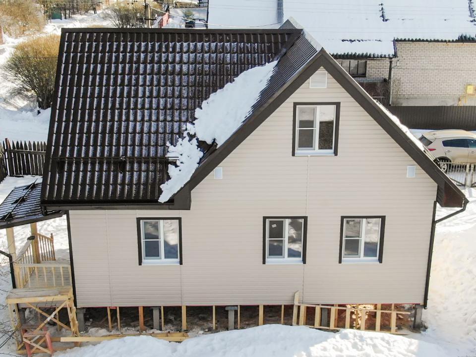 зимний каркасный дом для постоянного проживания