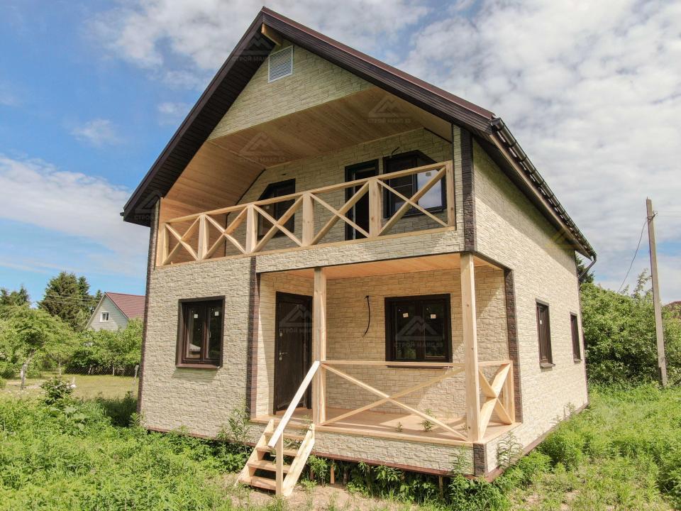 каркасный финский дом по индивидуальному проекту