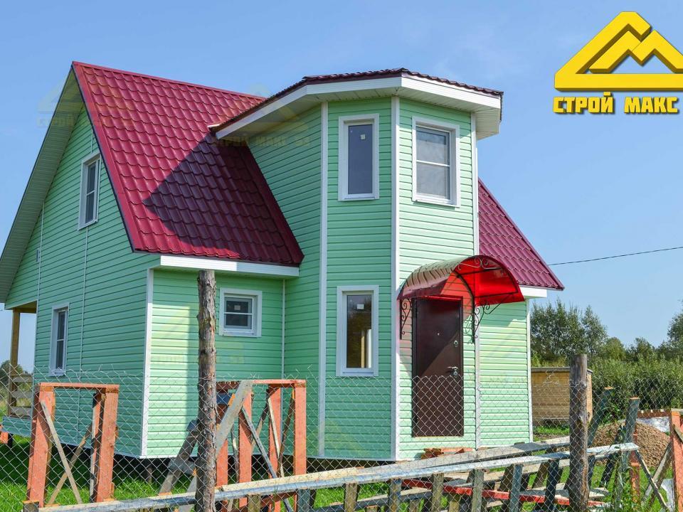 на фото каркасный дом наших заказчиков построенный на материнский капитал
