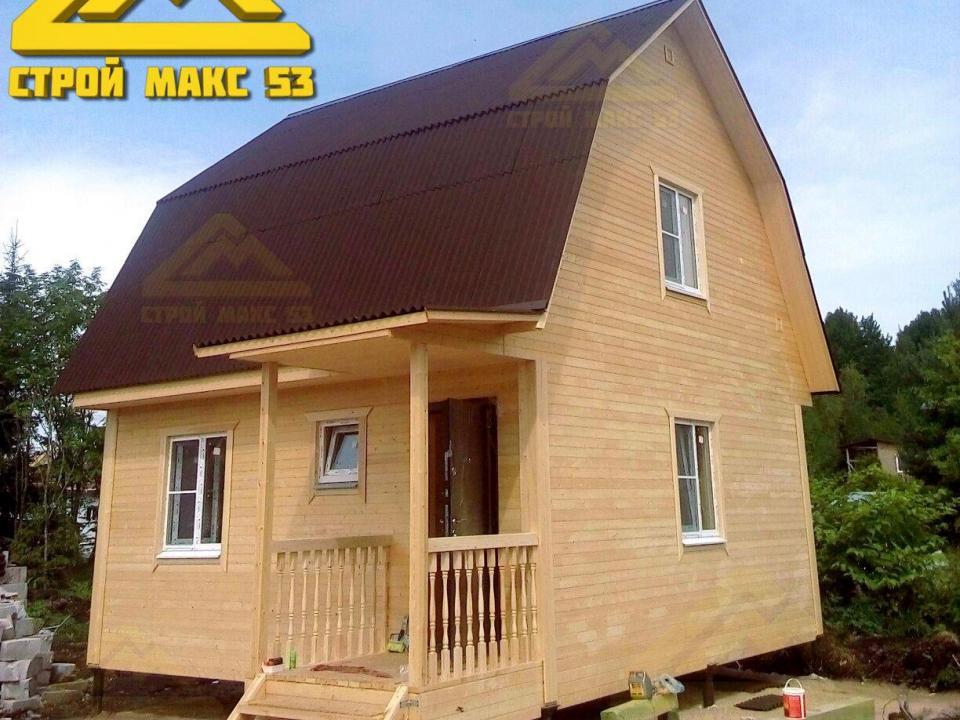 фото каркасный дом с манасардой