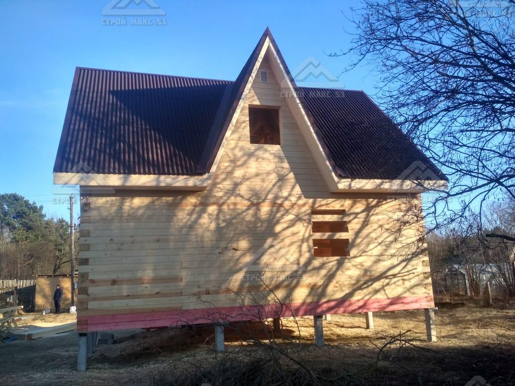 брусовой дом с кукушкой
