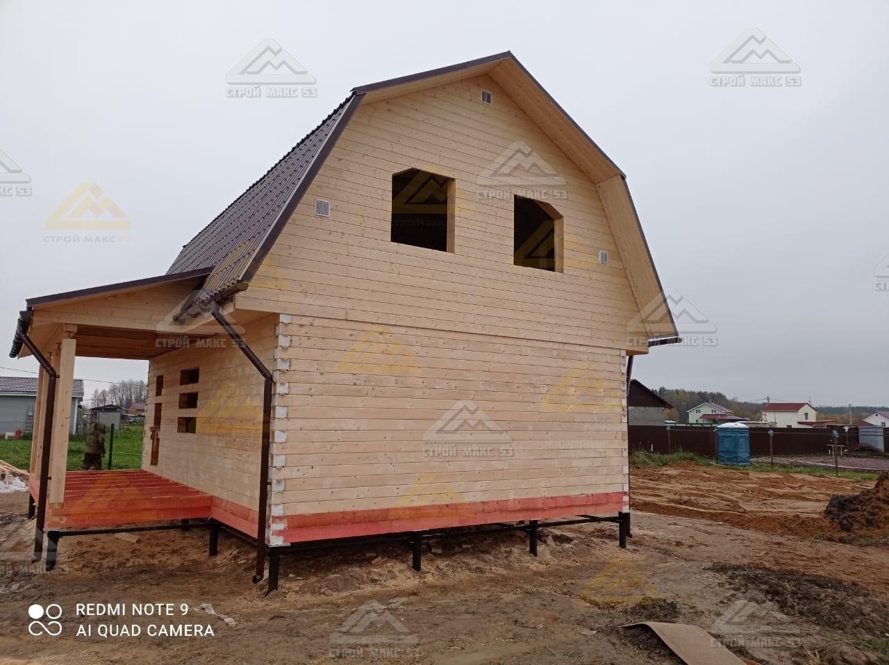 дом-баня под усадку