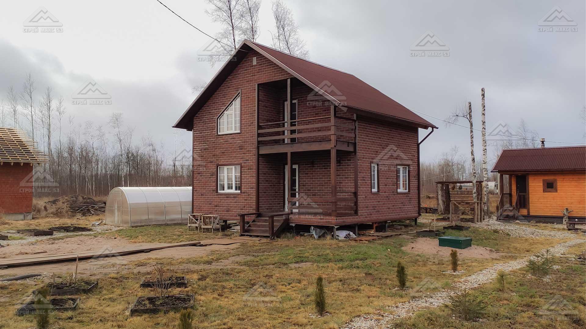 финский каркасный дом 7 на 9