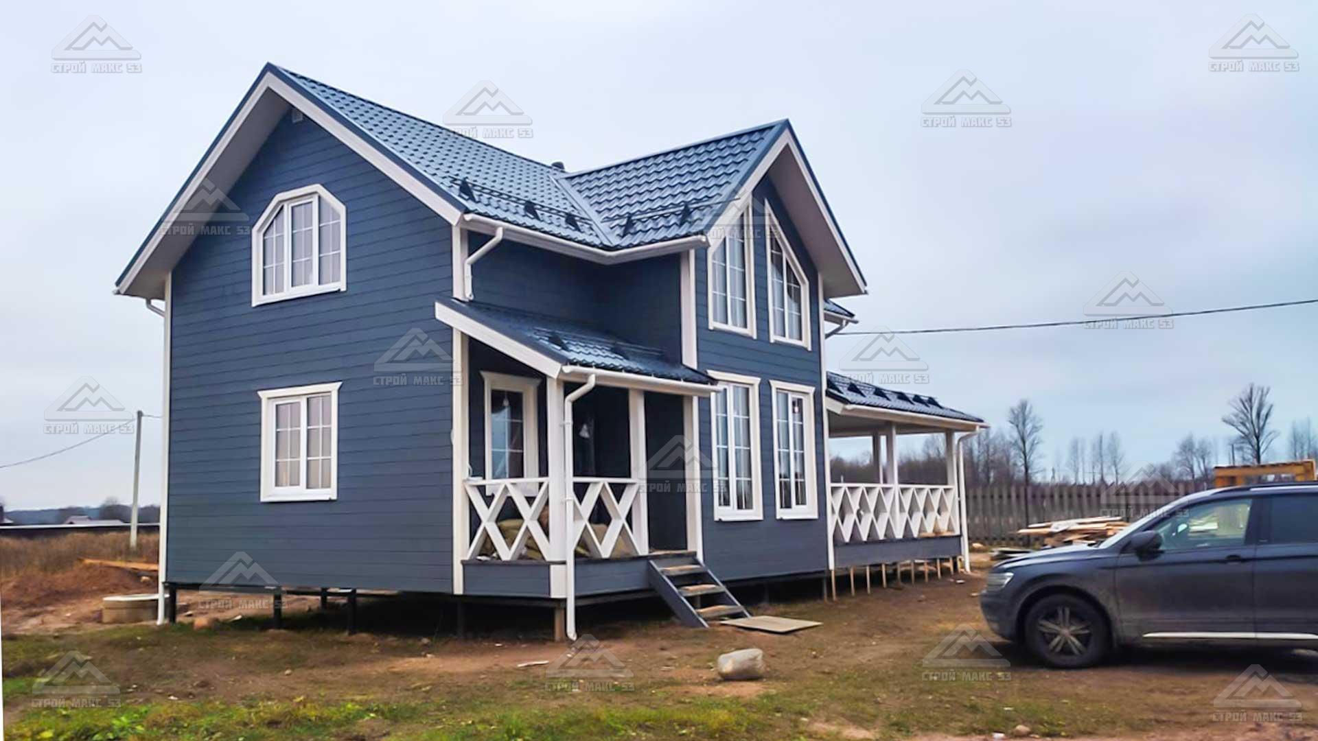 финский каркасный дом под ключ в великом новгороде