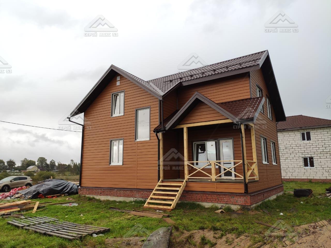 каркасный дом металлический сайдинг