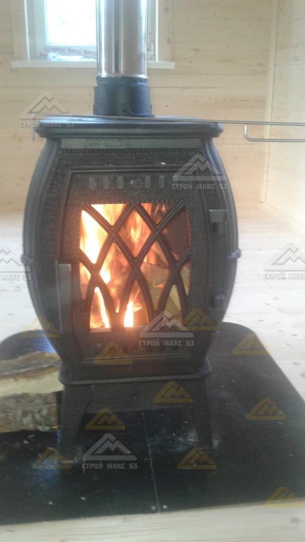 печь в каркасном доме