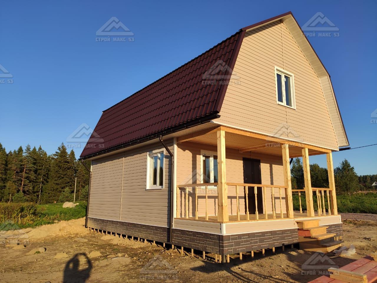 каркасный дом из сухого материала