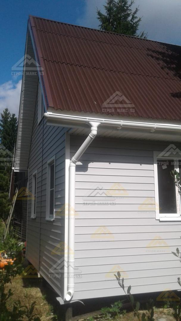 каркасный дом на забивных сваях