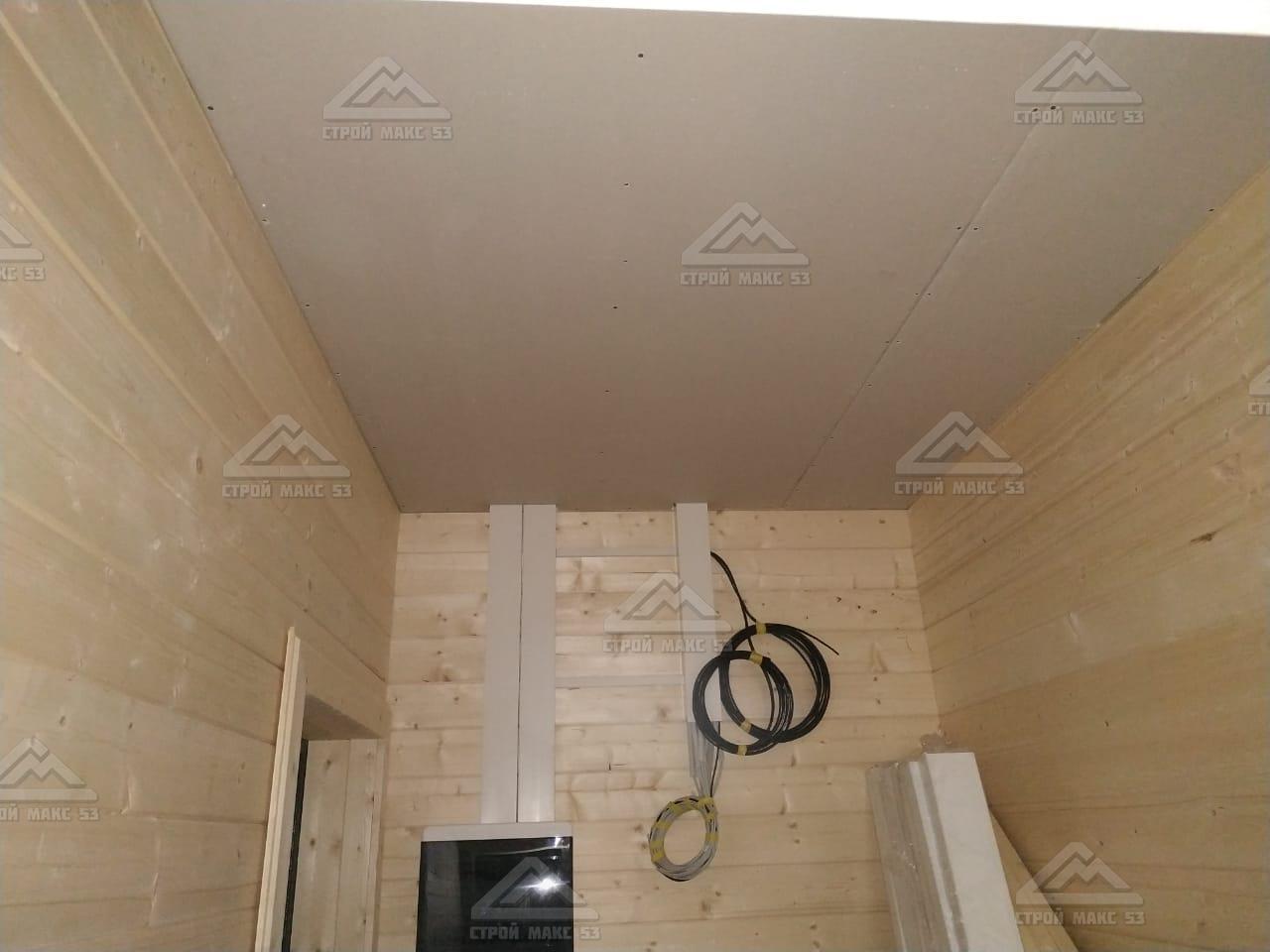 подвесной потолок в каркасном доме