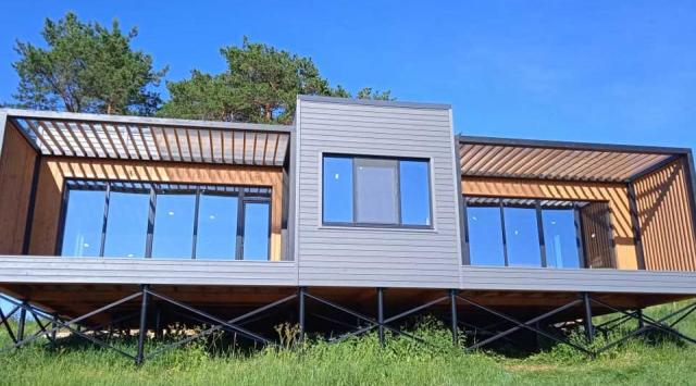 каркасный дом интересный дизайн