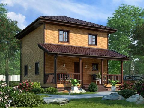финский каркасный дом с террасой под ключ