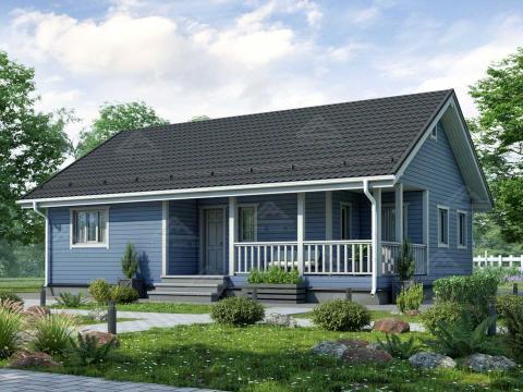 проект одноэтажного финского дома 9 на 12